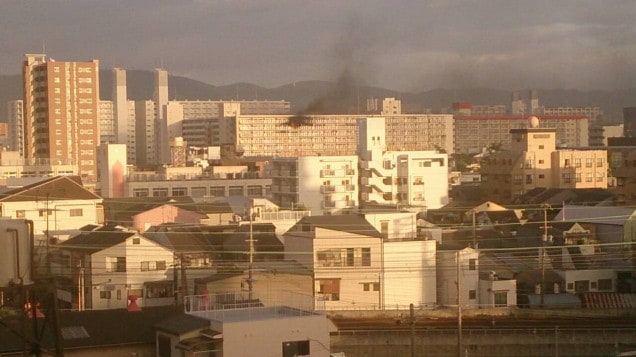 関目グリーンハイツ火事