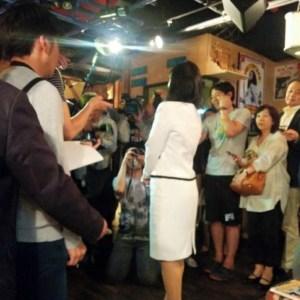 元維新の衆議院議員 上西小百合(さゆり)さんのトークライブに行きました。