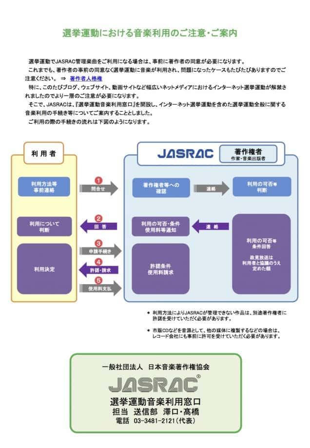 大阪都構想反対集会におけるウルフルズ・やしきたかじん氏の楽曲使用について