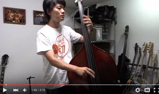 椎名林檎の「長く短い祭」をウッドベースで弾いてみた