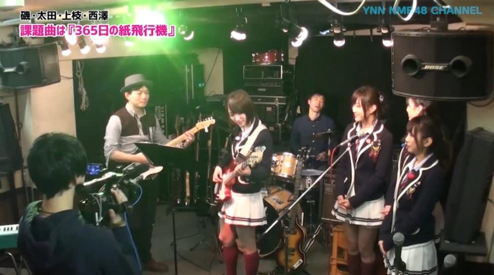 NMB48 太田夢莉さんにベースレッスンしました。(YNN NMB48 CHANNEL)