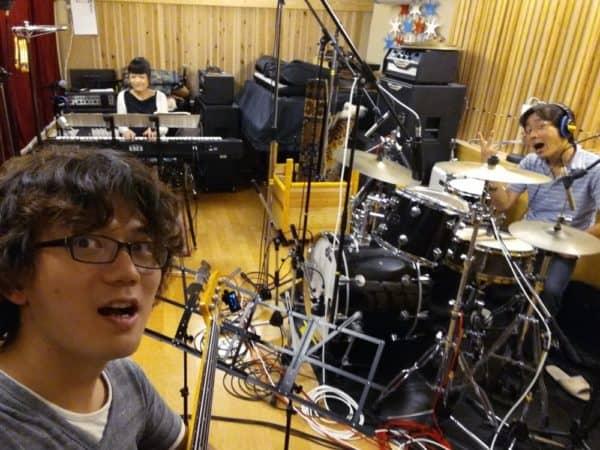 マザーシップスタジオ(京都十条)で小林理紗トリオレコーディングでした。