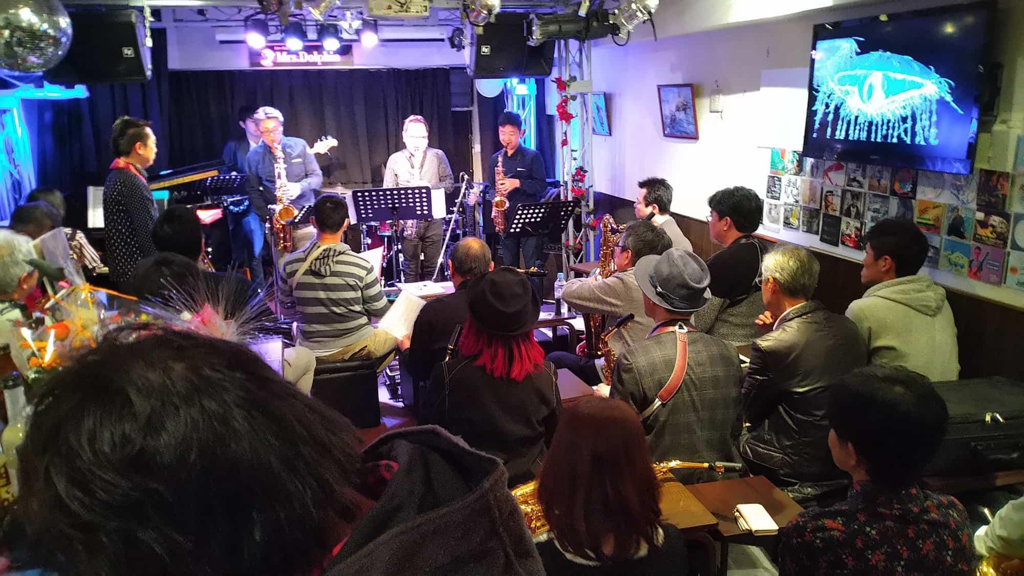 藤井サックス教室 津田ベース教室 中尾ギター教室共同 OPEN MIC & JAM Session 3.31でした。